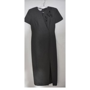 Maggy London Vintage Gray Dress 4 (D22)